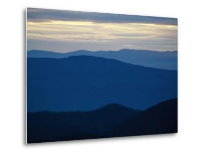Twilight View of the Blue Ridge Mountains from Big Meadows-Raymond Gehman-Metal Print