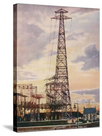 Part of Britain's National Grid This is the Sub-Station at Yoker Near Glasgow Scotland--Stretched Canvas Print