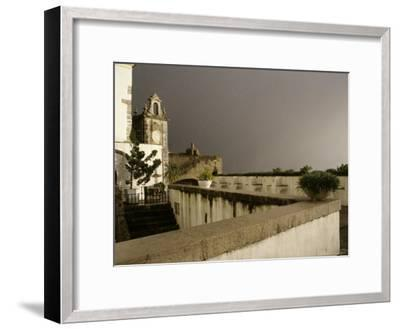 Rain and Sun Play on Castle Walls in Lisbon-Stephen Alvarez-Framed Photographic Print