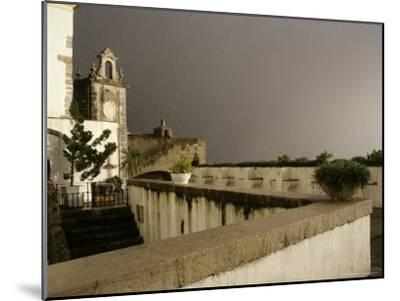 Rain and Sun Play on Castle Walls in Lisbon-Stephen Alvarez-Mounted Photographic Print