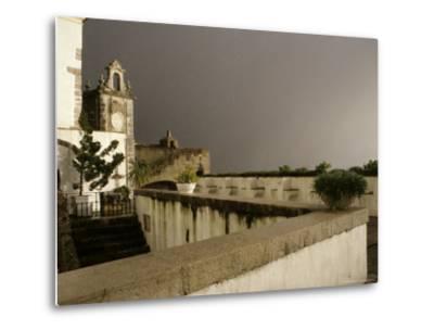 Rain and Sun Play on Castle Walls in Lisbon-Stephen Alvarez-Metal Print