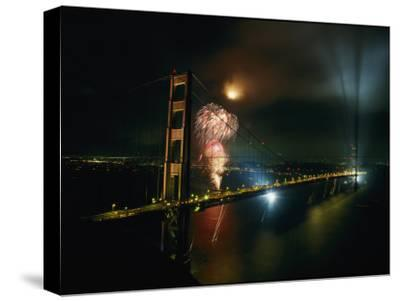 Golden Gate Bridge Celebration Marking the 50Th Anniversary of its Opening--Stretched Canvas Print