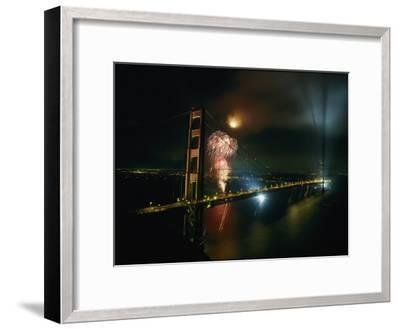 Golden Gate Bridge Celebration Marking the 50Th Anniversary of its Opening--Framed Photographic Print
