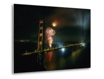 Golden Gate Bridge Celebration Marking the 50Th Anniversary of its Opening--Metal Print