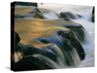 Waterfall in Yosemite National Park-Marc Moritsch-Stretched Canvas Print