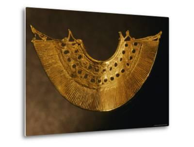 An Earring from Colombias Sinu Culture--Metal Print