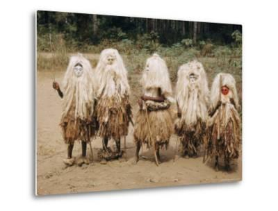 A Group of Young Boys in a Masked Dance-W^ Robert Moore-Metal Print