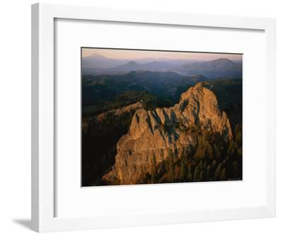 Aerial View of a Mountainside at Twilight-Melissa Farlow-Framed Photographic Print
