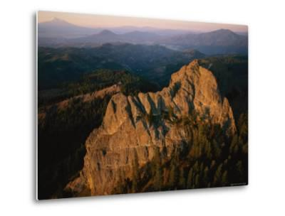 Aerial View of a Mountainside at Twilight-Melissa Farlow-Metal Print