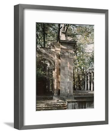 The Outdoor Theater of the Lazienki Palace-Maynard Owen Williams-Framed Photographic Print