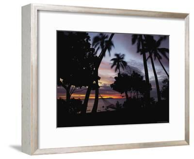 Sunset View over Marlin Bay-James L^ Stanfield-Framed Photographic Print