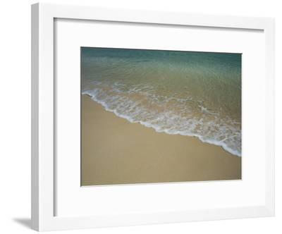 A View of Surf Creeping up onto a Beach-Todd Gipstein-Framed Photographic Print