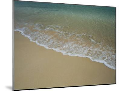 A View of Surf Creeping up onto a Beach-Todd Gipstein-Mounted Photographic Print