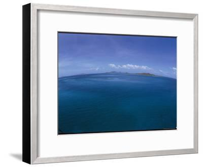 The Turquoise Ocean Photographed from the Mast of a Boat-Todd Gipstein-Framed Photographic Print