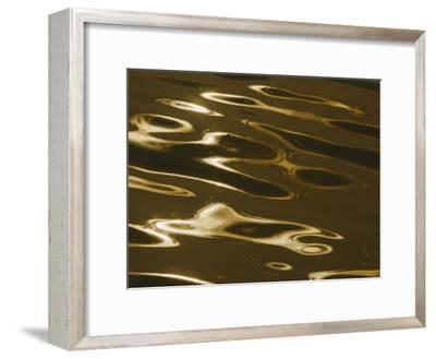 Ripples of Water Reflect the Setting Sun-Todd Gipstein-Framed Photographic Print