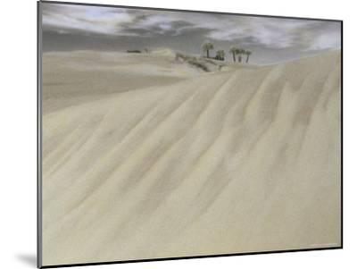 A Massive Sand Dune Dwarfs Trees on a Barrier Island-Annie Griffiths-Mounted Photographic Print