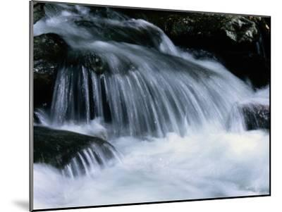 Close View of a Small Waterfall-Bates Littlehales-Mounted Photographic Print