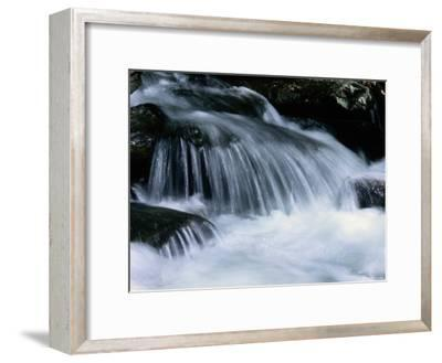 Close View of a Small Waterfall-Bates Littlehales-Framed Photographic Print