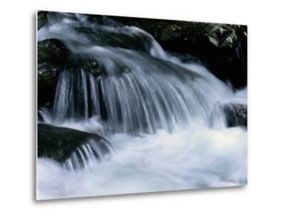 Close View of a Small Waterfall-Bates Littlehales-Metal Print