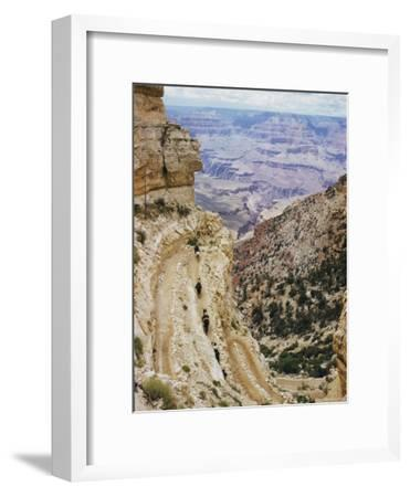 A Muleback Party Comes up the Kaibab Trail-Justin Locke-Framed Photographic Print