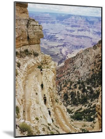 A Muleback Party Comes up the Kaibab Trail-Justin Locke-Mounted Photographic Print