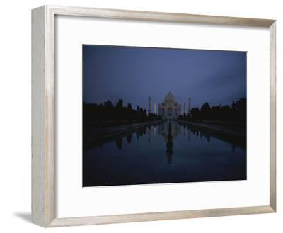 Night View of the Famous Taj Mahal-Michael S^ Lewis-Framed Photographic Print