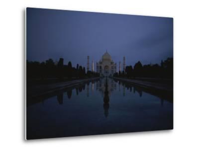 Night View of the Famous Taj Mahal-Michael S^ Lewis-Metal Print