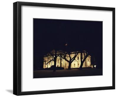 A Night View of the White House Decorated for the Holidays-Medford Taylor-Framed Photographic Print