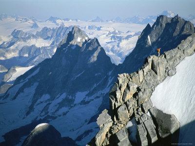 A Man on Mount Combatant, Coast Range, British Columbia-Jimmy Chin-Framed Photographic Print