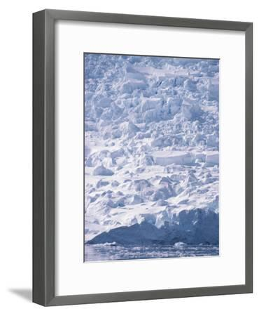 A View of a Glacier Icefall at Paradise Bay--Framed Photographic Print