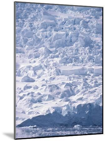 A View of a Glacier Icefall at Paradise Bay--Mounted Photographic Print