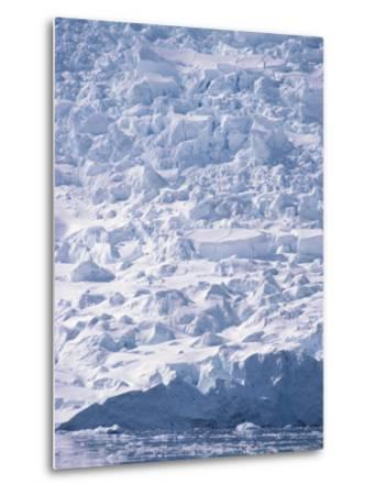 A View of a Glacier Icefall at Paradise Bay--Metal Print