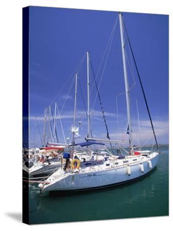Yacht Harbor, Peloponnesos, Greece-Walter Bibikow-Stretched Canvas Print