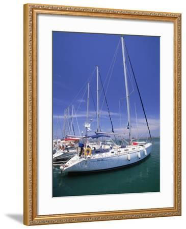 Yacht Harbor, Peloponnesos, Greece-Walter Bibikow-Framed Photographic Print