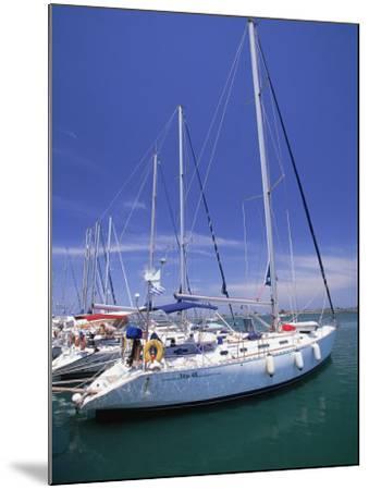 Yacht Harbor, Peloponnesos, Greece-Walter Bibikow-Mounted Photographic Print