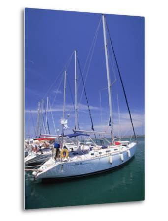 Yacht Harbor, Peloponnesos, Greece-Walter Bibikow-Metal Print