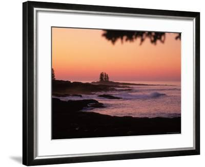 Sunrise, Tall Ship Island, East Boothbay, ME-Ed Langan-Framed Photographic Print