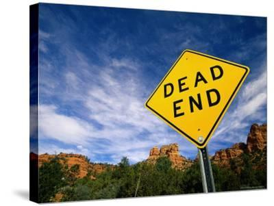 Road Sign, Dead End-James Lemass-Stretched Canvas Print