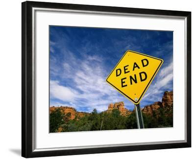 Road Sign, Dead End-James Lemass-Framed Photographic Print