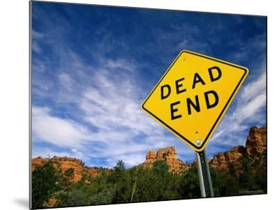 Road Sign, Dead End-James Lemass-Mounted Photographic Print