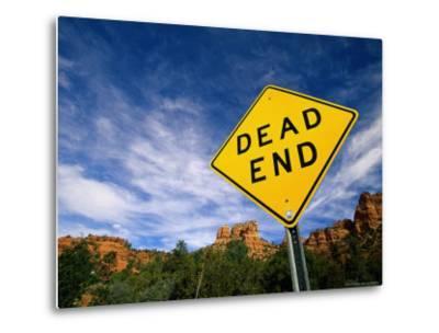 Road Sign, Dead End-James Lemass-Metal Print
