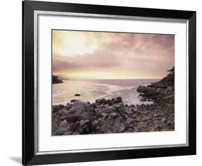 Secret Beach, Puerta Vallarta, Mexico-Walter Bibikow-Framed Photographic Print