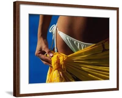 Mexican Woman with Swimwear-Mitch Diamond-Framed Photographic Print