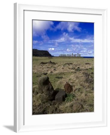 Moai at Ahu Tongariki, Easter Island, Chile-Angelo Cavalli-Framed Photographic Print