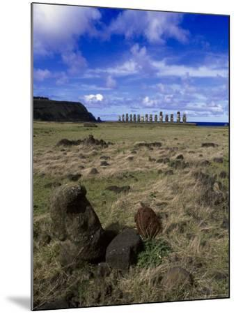 Moai at Ahu Tongariki, Easter Island, Chile-Angelo Cavalli-Mounted Photographic Print