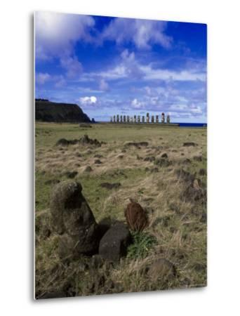 Moai at Ahu Tongariki, Easter Island, Chile-Angelo Cavalli-Metal Print