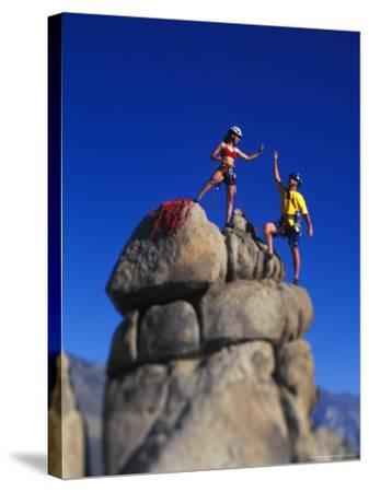 Rock Climbers-Greg Epperson-Stretched Canvas Print