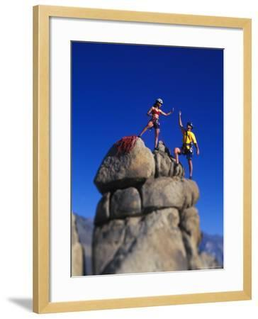 Rock Climbers-Greg Epperson-Framed Photographic Print