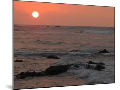 Big Island of Hawaii - Sunset from Beach-Keith Levit-Mounted Photographic Print