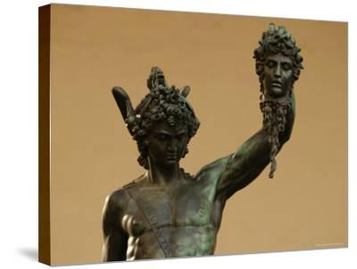Statue of Florence, Italy-Keith Levit-Stretched Canvas Print